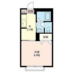 ホッホハウス[2階]の間取り