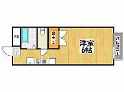 兵庫県神戸市垂水区名谷町の賃貸アパートの間取り