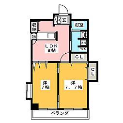 TRUSTY千代田[5階]の間取り