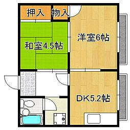 マンション太平8号館[3階]の間取り