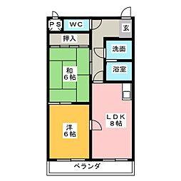 森ビル1[3階]の間取り