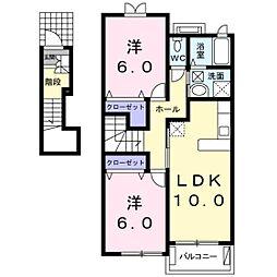 ラ フォレスタ Ⅱ[2階]の間取り