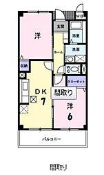広島県広島市佐伯区屋代3丁目の賃貸マンションの間取り