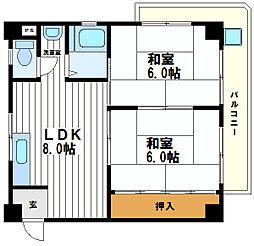 井加利屋ビル[4階]の間取り