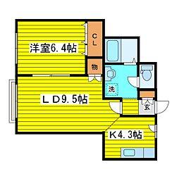北海道札幌市東区北十条東5丁目の賃貸マンションの間取り