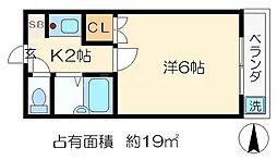 マンション和[2階]の間取り