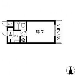 ベルハイム栄町[111号室号室]の間取り