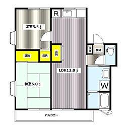 パーシモンIII[2階]の間取り