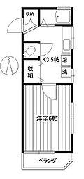東京都新宿区西早稲田3丁目の賃貸アパートの間取り