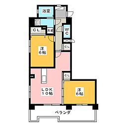 ロイヤルハイツワコーII[3階]の間取り