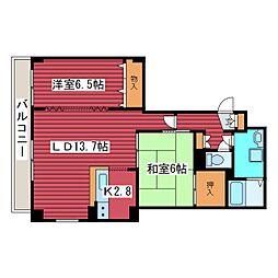 西岡サンマウンテンシャトー[5階]の間取り