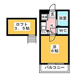 インターレジデンスA[1階]の間取り