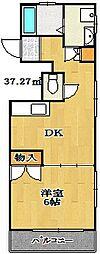 ドミールモリウチ[3階]の間取り