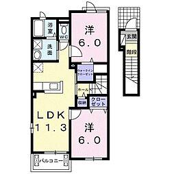KARZ KOKUBU[2階]の間取り