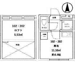 アーバンヴィラ東川口[2階]の間取り