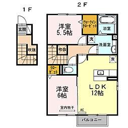 フォレストB[2階]の間取り