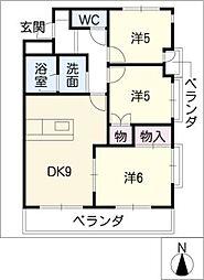 エスト味美マンション 北館[2階]の間取り