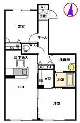 福岡県福岡市早良区田村2丁目の賃貸アパートの間取り