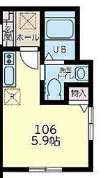 神奈川県横浜市港南区上大岡東1の賃貸アパートの間取り