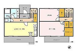 [テラスハウス] 東京都昭島市大神町2丁目 の賃貸【/】の間取り