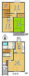 [テラスハウス] 神奈川県川崎市多摩区長沢1丁目 の賃貸【神奈川県 / 川崎市多摩区】の間取り