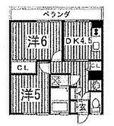 長谷川ビル[302号室]の間取り