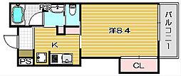 大阪府茨木市中津町の賃貸マンションの間取り