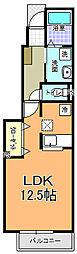 メゾンSMILE II棟[105号室]の間取り