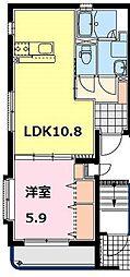 アリエスK[3階]の間取り