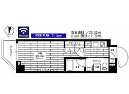 東急世田谷線 松原駅 徒歩3分の賃貸マンション 3階1Kの間取り