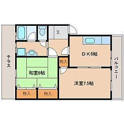 静岡県静岡市清水区長崎南町の賃貸アパートの間取り