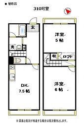 HOUSE248[310号室号室]の間取り