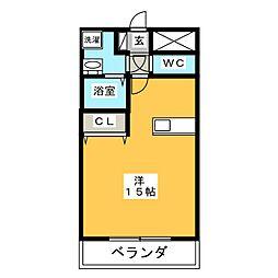 パラシオンII[3階]の間取り
