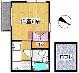 峰岡壱番館[2階]の間取り