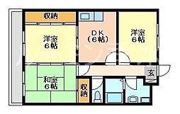 エンセント・メゾン[2階]の間取り