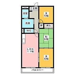ウインコート都府楼[4階]の間取り