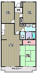 ベルデュール杉田[2階]の間取り