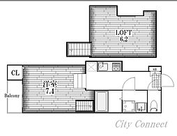 リアンハイム六番町[2階]の間取り