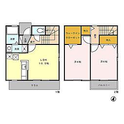 [テラスハウス] 東京都青梅市梅郷5丁目 の賃貸【東京都 / 青梅市】の間取り