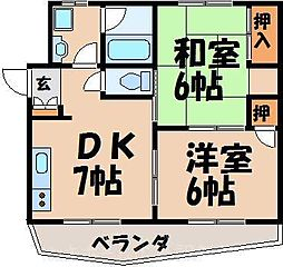 広島県広島市東区中山東1丁目の賃貸マンションの間取り