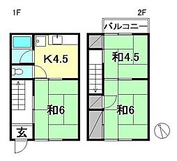 [テラスハウス] 愛媛県松山市松末2丁目 の賃貸【/】の間取り