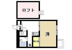 京都府木津川市相楽台7丁目の賃貸アパートの間取り