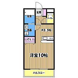 TKレジデンス栄[1階]の間取り