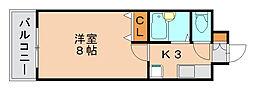 リファレンスイーストパーク[11階]の間取り