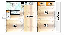 ハイツシーサイドII[1階]の間取り