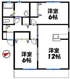 コンフォート加茂[2階]の間取り