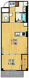 (仮称)K様 賃貸マンション 4階1LDKの間取り
