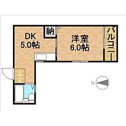 静岡県浜松市中区高町の賃貸マンションの間取り