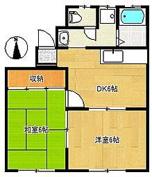イーストヒルズパートII[1階]の間取り