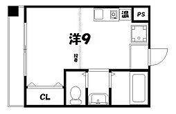 エステート三条ビル[3階]の間取り